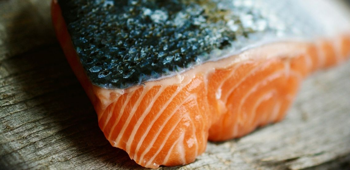 A fillet of salmon.